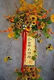 8月山幸温泉にくる小泉たつみさんにお祝いスタンド花